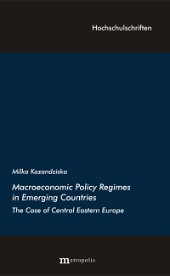Macroeconomic Policy Regimes in Emerging Countries