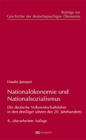 Nationalökonomie und Nationalsozialismus